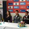 Pressegespräch am DKB-EISKANAL (v.l.): Ralf Palik, Julia Taubitz, Toni Eggert, Tobias Wendl, Tobias Arlt.